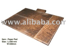 Leather Paper pad hotel accessories