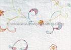 White Color Bordir Embroidered Cotton Fabric