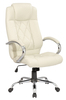 Fancy white lift manager office swivel chair with steel base Y-2848