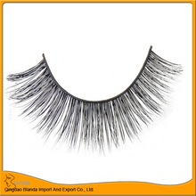 100% hand made wholesale black natural free fake eyelash