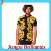 wholesale custom t-shirt floral printing fashion original mens 100% cotton high quality cheap price polo t shirt for men