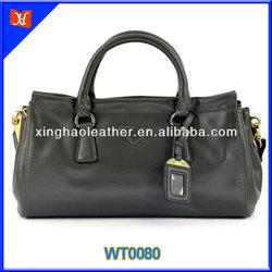 2014 most fashionable trend unisex leather travel bag, genuine leather bags handbag