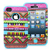 2013 New Hybrid Tuff Tribal 3 in 1 Case For Iphone4 4S accessory