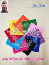 Promotional design custom promotional printed square bandana cotton bandana is hot sale .LS02