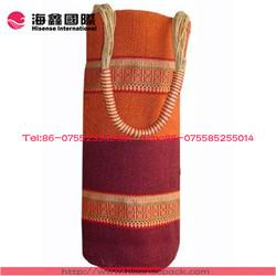 Colorful wine tote jute bag, factory price