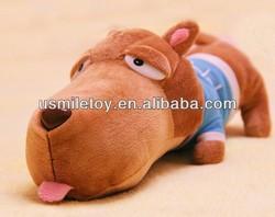brown plush dog ,plush dog with big head,plush lovely dog
