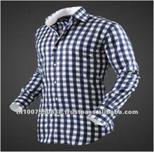 100% Cotton Plaids Latest Shirt Designs for Men 2012