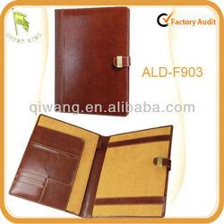 High quality leaher a4 document folder