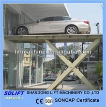 underground hydraulic scissor lift car