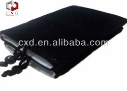 Black velvet drawstring for packaging
