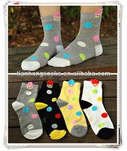 polka dot design sales ! 100 prs mix colours MOQ bulk wholesale socks for women soft-fit cotton pop socks popular fashion socks