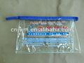 promoção claro pvc embalagem saco com reforços laterais de pvc stand up pouch saco