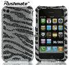 For Apple iphone 3G 3GS Zebra Rhinestone Bling Phone Cover