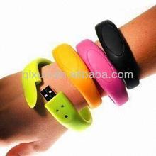 free company logo bracelet bride and groom usb flash drive