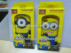 Despicable Me Minions Silicon Soft Case Cover for Iphone4s/5, factory price