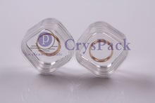 Plastic transparent box CPK-M-3816 for jewellry ring coins