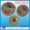 Commemorative custome cheap metal Jeans Badge/Lapel pin silver badges for promotion