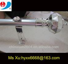 24mm aluminium alloy curtain pipe/Home use decorative Golden Aluminum Curtain Rod