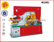 Angle channel cutting and punching machine