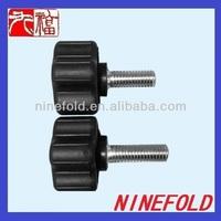 plastic knob and bolt/ black plastic knob