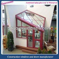 aluminum outdoor portable sun glass room manufacturer