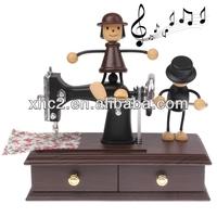 Vintage Mini Lovely Sewing Machine Design Music Box(Toy Gift Sartorius Model)