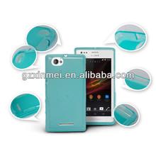 transparent TPU capa para celular for sony xperia m c1905