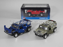 1:24 AUTHORIZATION GLIDE ALLOY HUMMER H2 car model Static model car toy pull back with light & can open the door