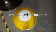 yellow acrylic decorative hollow sphere 50mm