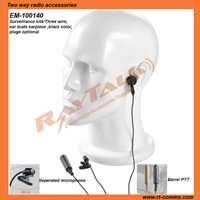 For kenwood two way radios transceiver Police earpiece covert kits headset&earpiece