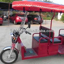 plastic roof 1000w 60v powerful motorized Indian passenger electric rickshaw