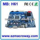 OEM H61 motherboard 1155 support INTEL i3 i5 i7 processor