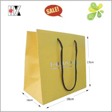 Matt Laminated Silver Logo Shopping Paper Bag with Handles