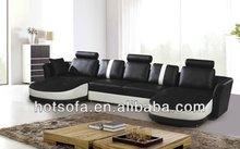 100% top grain leather, u shape,living room furniture sofa set T303