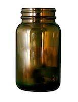 Pharma round jars 120cc 45-400 Amber glass