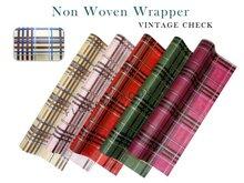 Vintage check non woven