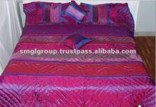 Soft Light Weight Silk Patchwork Jaipur Quilts 100% Cotton Stuffed Jaipuri Quilts