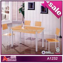 A1232 High end dining set metal furnitures