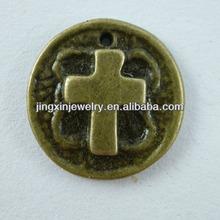 Popular Design Accessories Cross On The Coin Metal Art Craft Models
