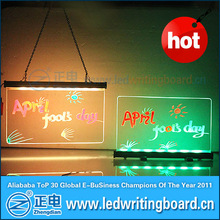 desktop or hanging led write and shine ad board