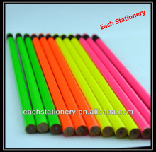 "7"" Wooden HB Fluorescence Pencil With Colorful Eraser Top"