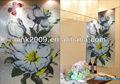 Mosaico de vidrio a mano- corte de patrón de arte, foto de la flor diseño para el hogar