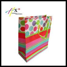fancy matt laminated shopping paper bag for christmas