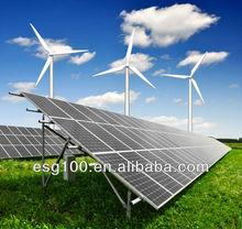 Wind Generator,Solar panels, Battery, 2KW wind solar hybrid power system