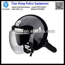 Anti riot helmet with flat visor THTK-FB-01