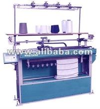 Semi Computerised Sweater Flat Bed Knitting Machine