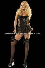 sexy black corset garter
