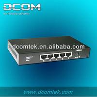 5 10/100/1000Mbps RJ45 Ethernet ports switch