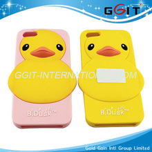 2013 Latest Well-known 3D Rubber Duck Silicon Case for IPhone 5 Rubber Duck Silicon Cover, For 5G Yellow Duck Silicon Case