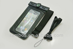waterproof cell phone pouch dry bag with campass for iphone 4 5 5s